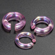 pink ear stretchers glass ear stretcher