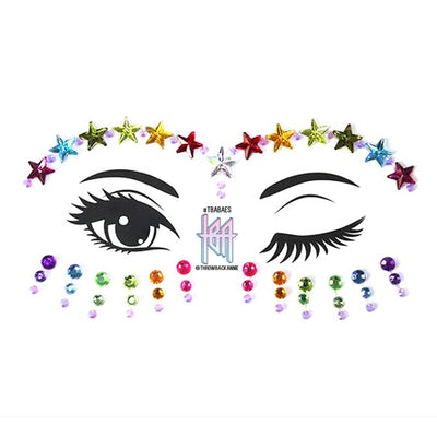 star face jewels rainbow brow gems festival face crystals pride face jewellery