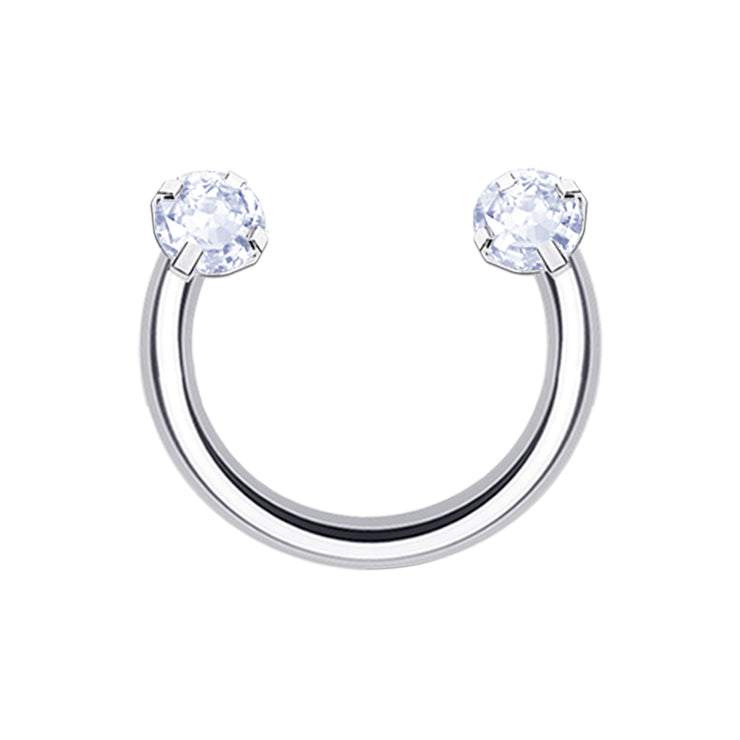 Sparkle Pop | Silver Crystal Horseshoe Rings | 6mm - 12mm