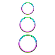 rainbow nose ring thin cartilage hoop simple bendable rings