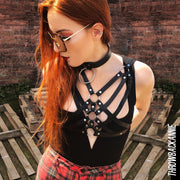 black choker neckalces PU Leather choker necklace