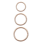 rose gold nose hoop rose gold cartilage ring