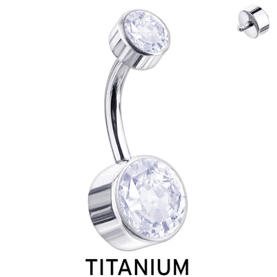 SIMPLY CHIC | Titanium Crystal Belly Bar