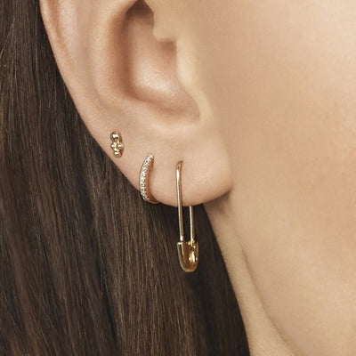 Gold Ear Hangers Gold Earring Rose Gold Earrings