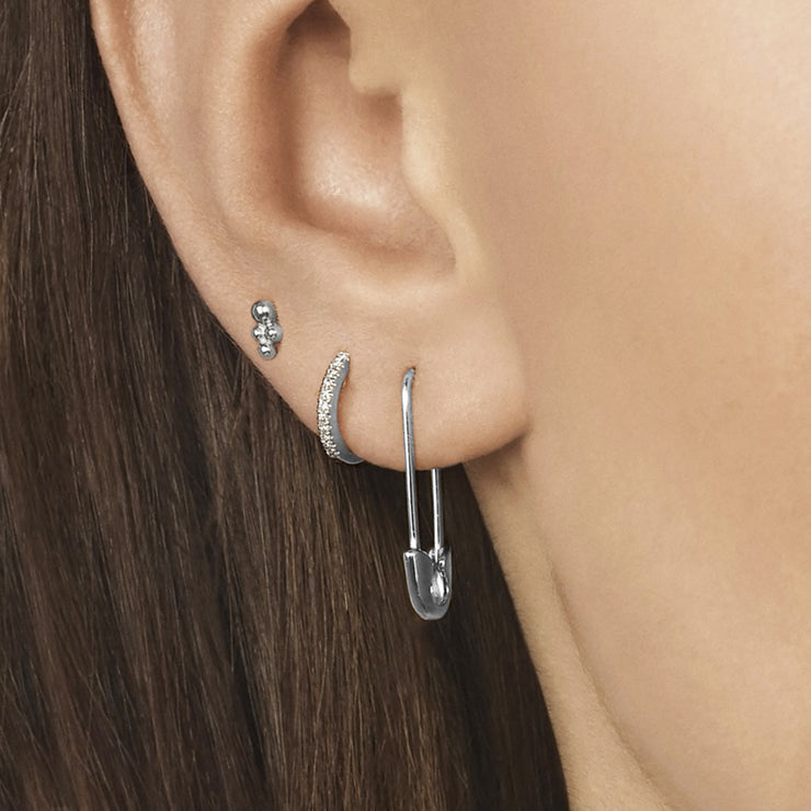 SAFETY FIRST | Safety Pin Hanging Earrings