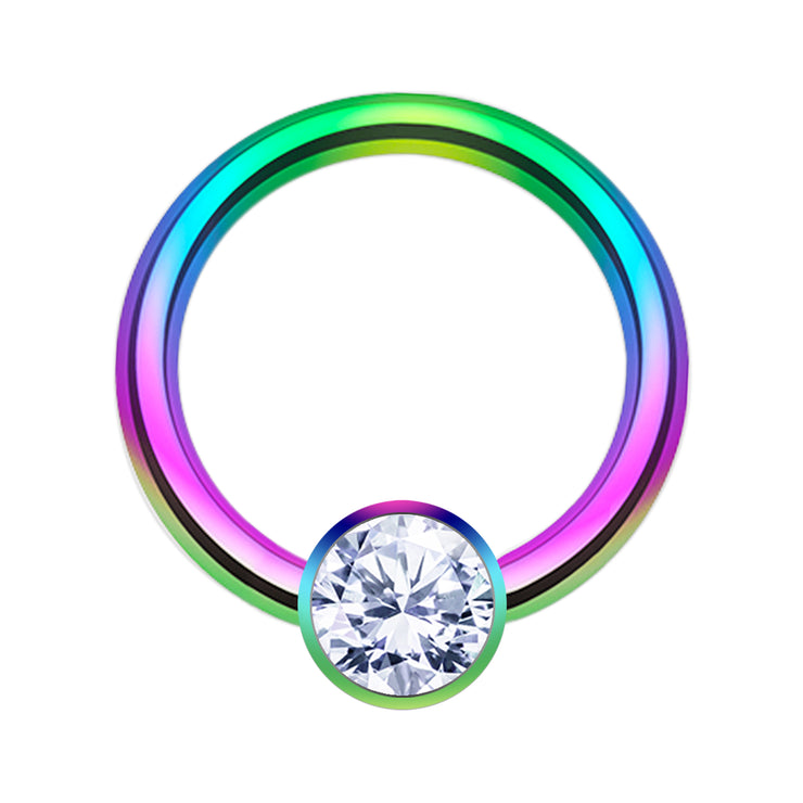 rainbow helix ring crystal cartilage piercing