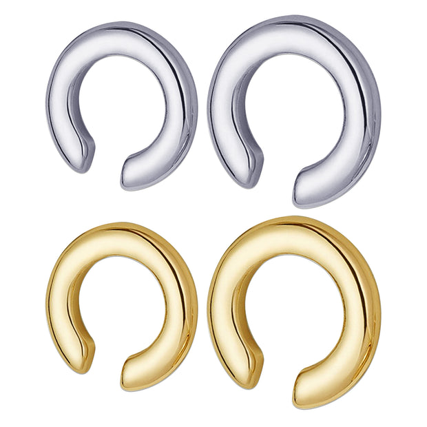 fake earring silver false cuff simple fake ear wrap