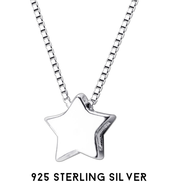 silver necklace star necklaces