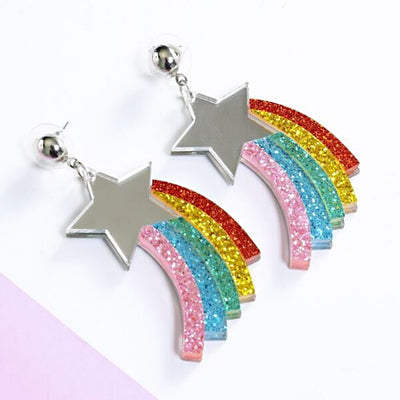 dangle earrings star ear piercings festival ear jewellery