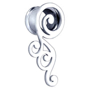spiral ear tunnel silver ear tunnels