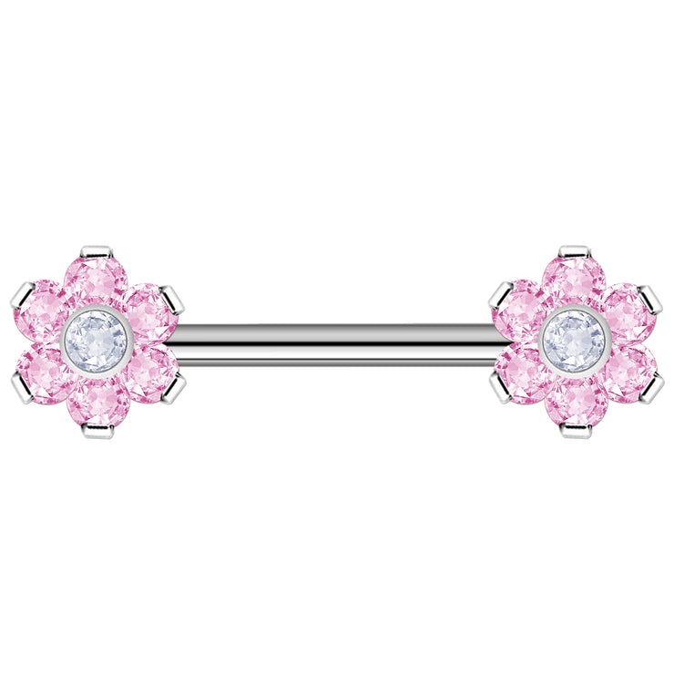 pink staple bars pink surface piercing bar