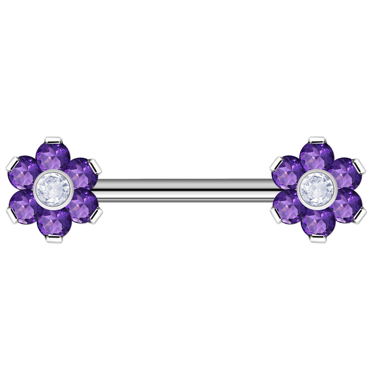 purple surface jewelry flower surface jewellery