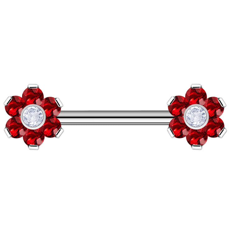red surface barbells titanium staple barbell