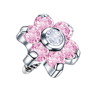 flower cartilage jewellery pink dermal piercings flower piercing top
