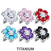 flower dermal top crystal dermal tops flower dermal topper