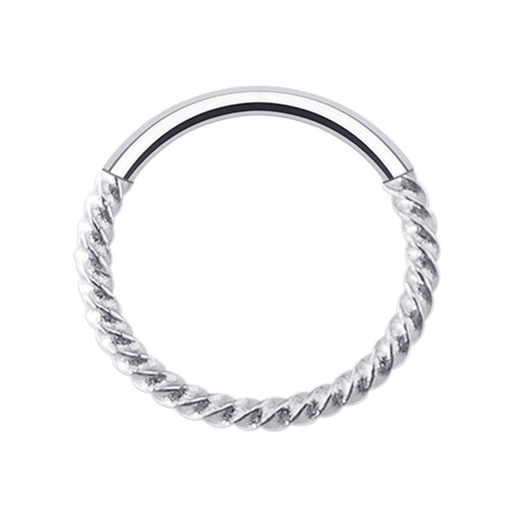 TWISTED | Silver Rope Hinge Ring