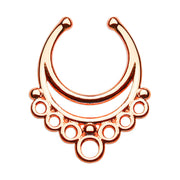 fancy fake septum ring large faux helix rings
