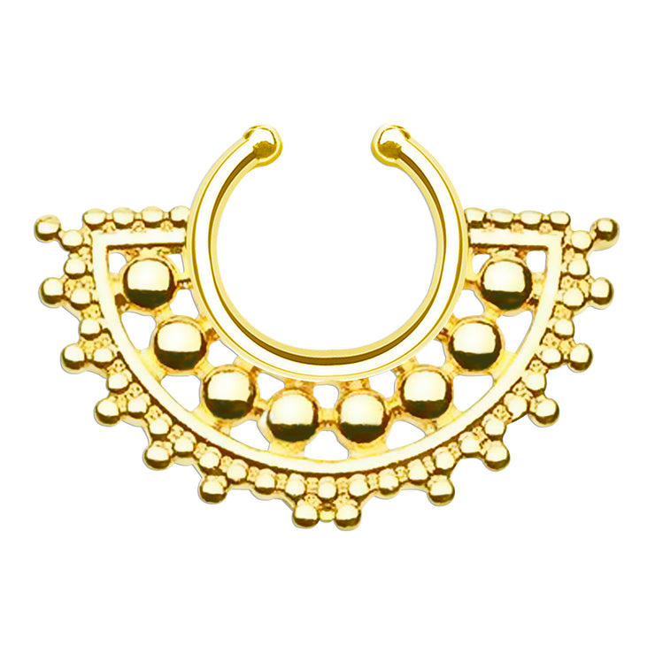 gold fake nose ring false septum rings