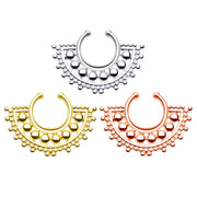 large faux septum ring fan septum piercing