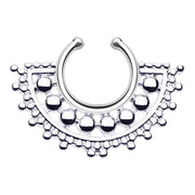 fan septum ring faux septum hoop
