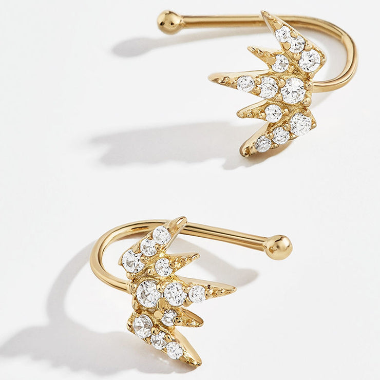 gold cartilage jewellery gold ear cuff