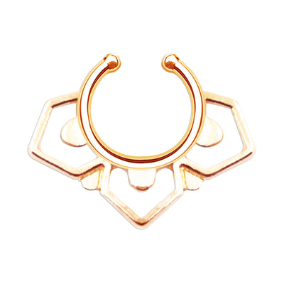 Alexandra | Aztec Faux Septum Ring