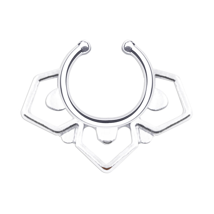 silver fake septum ring silver nose rings