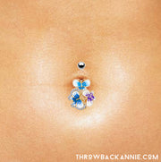 butterfly belly bars cute belly button jewellery silver belly piercings