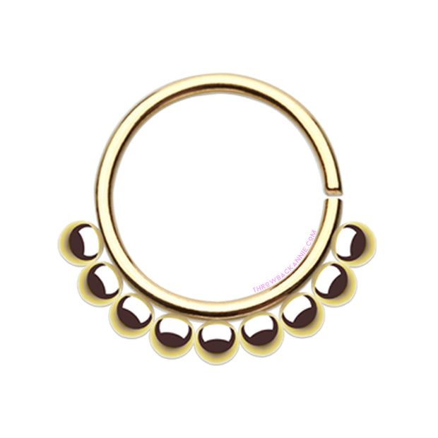 Dotty | Bead Septum Rings