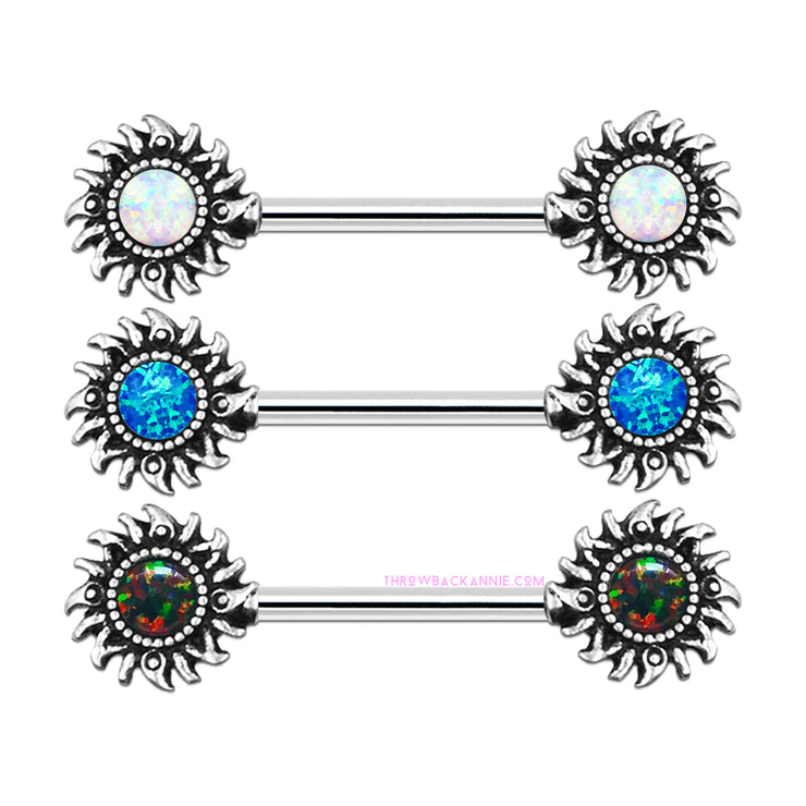 Solita | Tribal Opal Nipple Bar