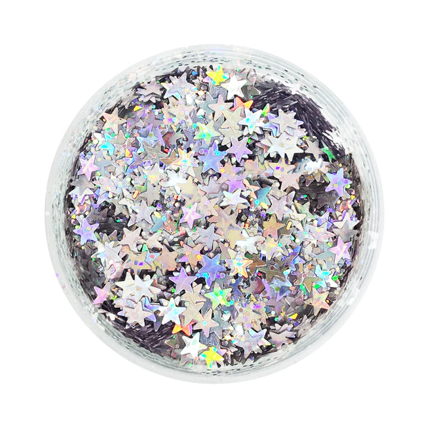 Stardust | Silver Star Holographic Glitter