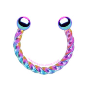 Twisted | Rainbow Rope Horseshoe Ring