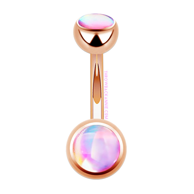 Unicorn | Iridescent Rose Gold Belly Bars