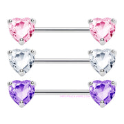 Viola | Love Heart Nipple Bar