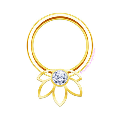 Yasmin | Lotus Captive Bead Ring