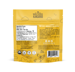 1 Chicken Flavor Bouillon Seasoning