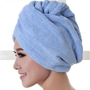 Microfiber quick drying head towel.