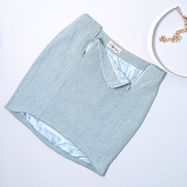 Ice Blue Mini Skirt