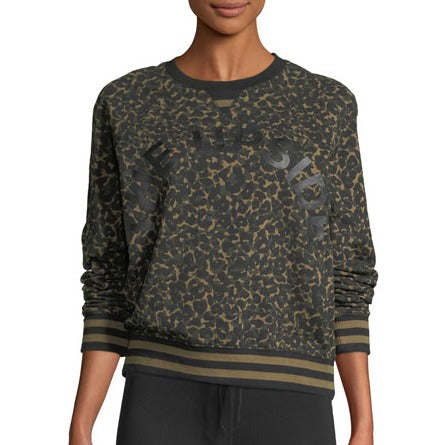The Upside Leopard Print Camo Sweatshirt