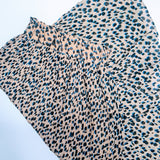 Leopard Print High Waisted 3/4 Skirt