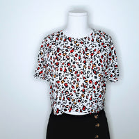 Zara Bold Animal Print Cropped T