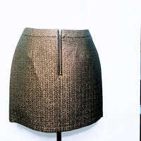 Metallic Textured Mini Skirt