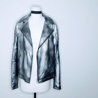 Oversized Faux Leather Jacket
