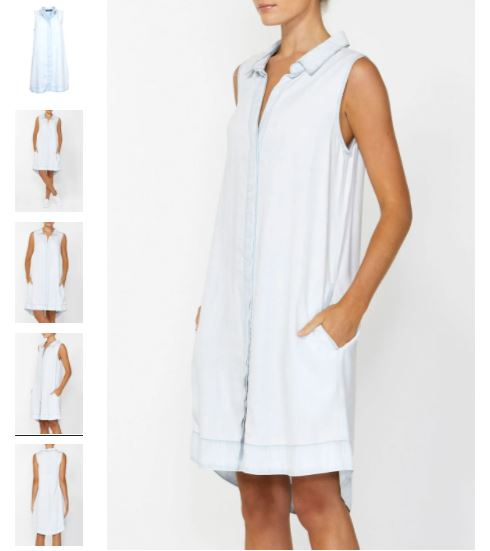Decjuba Sleeveless Shirt Dress