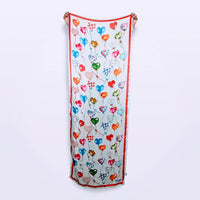 Moschino Heart Balloon Silk Scarf