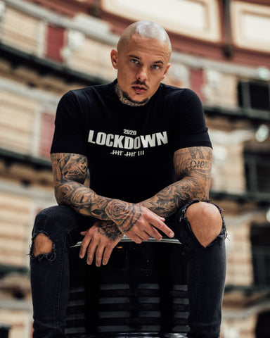 Kingsmen Lockdown 2020 T-shirt |  White on Black