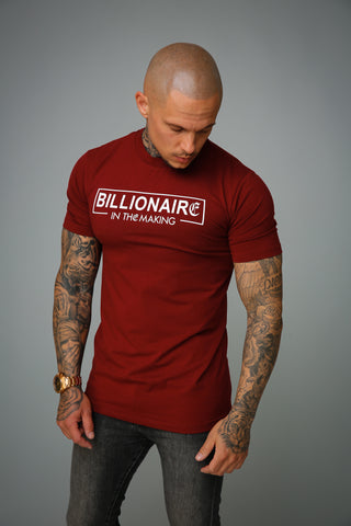 Kingsmen billionaire t-shirt bordeaux
