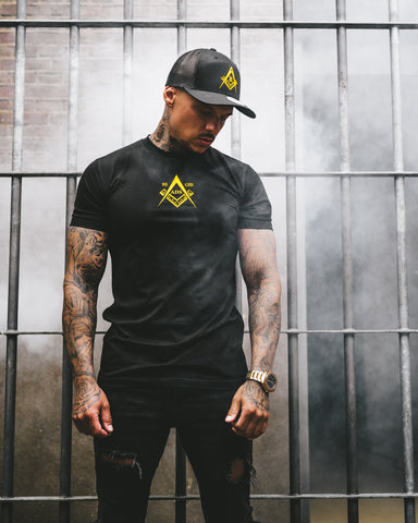 Kingsmen Secret Symbol T-shirt |  Yellow on Black