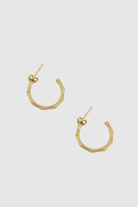 Bamboo open hoop earrings