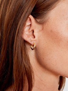 Infinity sleeper earrings